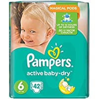 Pampers active Baby-Dry Taille 6 (extra large), 42 couches