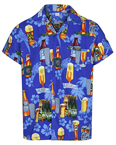 MENS-HAWAIIAN-SHIRT-SHORT-SLEEVE-STAG-BEACH-HOLIDAY-BEER-BOTTLE-DESIGN-FANCY-DRESS-HAWAII-ALL-SIZES