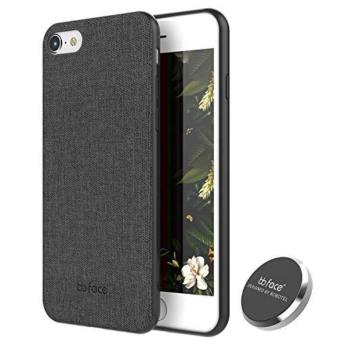 bb face Für iPhone 7/8 Hülle Leder Gewebe Muster Telefon Abdeckungs Magnet saugfähige Funktion stark zurück Fall mit In Auto Magnet Halter (stützen Sie Nicht drahtlose Aufladung) - 4.7