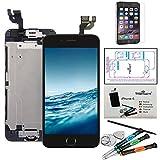 Trop Saint Kit di Riparazione Vetro Schermo per iPhone 6 (4,7)' Nero Ricambio Completo LCD Display Pellicola Protettiva
