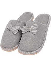 CAI&HONG-Daily GCH Zapatillas de casa de algodón cálido Invierno Interior cómodo, B, 42-43