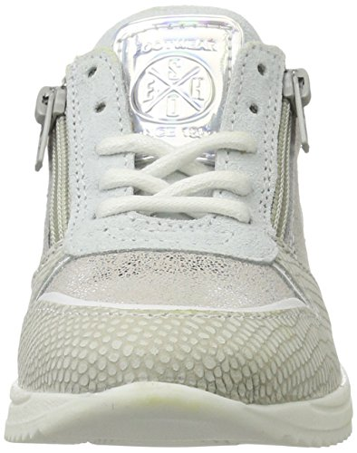 BULLBOXER Mädchen Agp005e5c Low-Top Silber (white/silver)