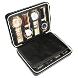 HS-8-Watch-Jewellery-Display-Storage-Travel-Box-Case-Organiser-Black-Faux-Leather-Mens-Womens-Ladies