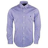 Polo Ralph Lauren Herren Freizeithemd LS Slim FIT BD PPC SPT, Mehrfarbig (Blue White Bengal Strips E4HBS), Large