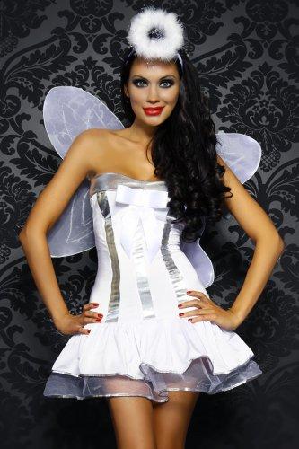 Yourdesignerz Engel-Kostüm Damen weiß/silber, Größe Atixo:XS-L