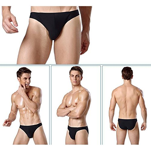 Alamor 3-packHigh-Grade Männer Ice Silk Breathable Nahtlose Einteilige Dreieck Unterwäsche Atmungsaktive Mode Gesundheit Beliebte Persönliche Ultra-Thin Komfortabel - Schwarz - XXXL