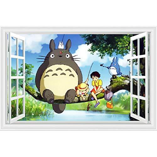 taoyuemaoyi Wandaufkleber Zeichentrickfilm Anime Dragon Cat Thousand Chihiro 3D Stereo Kindergarten Kinderzimmer Wandaufkleber Dekorativen Wandaufkleber 60 * 90cm pro