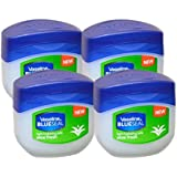 Vaseline BlueSeal Petroleum Light Hydrating Jelly 3.4oz (100ml) with Aloe Fresh (Pack of 4)