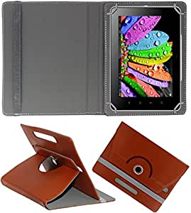 DMP 360 Degree Rotating Leather Flip Case Book Cover With Stand For Lenovo Tab 2 A8-50F - Brown