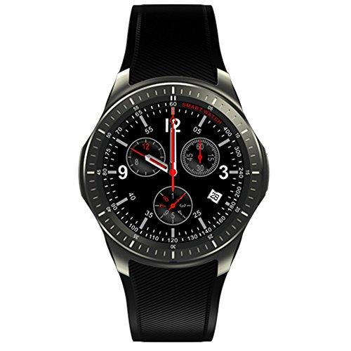 Preisvergleich Produktbild DM368 WiFi Smartwatch 3G GSM GPS SIM HD IPS Touchscreen Fitness Tracker Für IOS Android 5.1 Bluetooth Handgelenk Pulsmesser(Schwarz)