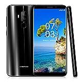 HOMTOM S8 4G Smartphone, 5.7 Zoll 18:9 Bildschirm Verhältnis/Android 7.0 4GB RAM 64GB ROM/16MP + 5MP Dual Ruckkamera/Fingerabdruck (schwarz)