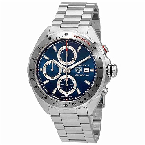 TAG Heuer Men's Steel Bracelet & Case Automatic Blue Dial Chronograph Watch CAZ2015.BA0876