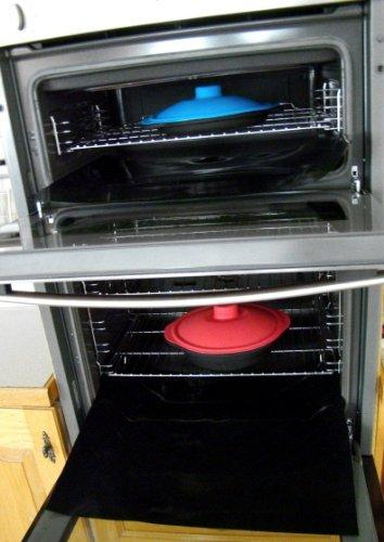 CleanZone Ofenschutz-Sets, Karbon, Oven Liner TWIN - Doppel-backofen-herde