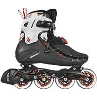 Powerslide Inline Skate Vi 80 Men - Patines en línea, color negro/rojo, talla 44