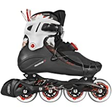 Powerslide Inline Skate Vi 80 Men - Patines en línea, color negro/ rojo, talla 44