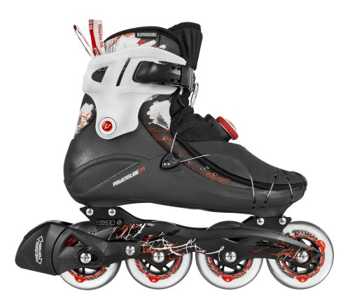 Powerslide Herren Inline Skate Vi 80 Men, schwarz/rot, 500029/46