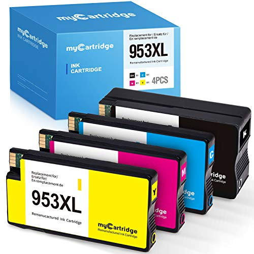 MyCartridge kompatibel HP 953 XL 953XL Multipack Druckerpatronen für HP OfficeJet Pro 7740 7720 8710 8720 8730 Drucker (Schwarz/Cyan/Magenta/Gelb)