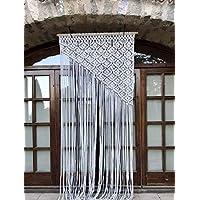 Cortina de macrame 9 (cuerda de algodón)