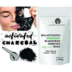 Mascarilla Exfoliante peel-off Carbón activo anti puntos negros 300g Mascara de Alginatos Unisex Piel con imperfecciones…