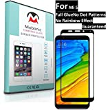 Mobonic |2.5D 9H Full Cover| |Full Glue| |No Dot Patterns No Rainbow Guaranteed| |Gorilla Glass| |Scratch Shock Proof| |Anti Explosion| |Tempered Glass| Screen Protector Shield For Xiaomi Mi5 New Mi 5 Mobile (March 2018 Launched) [Black] [0.3mm 2.5D Curve