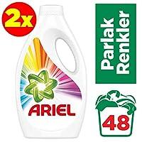 Ariel 24x2 (48 Yıkama) Sıvı Çamaşır Deterjanı Parlak Renkler