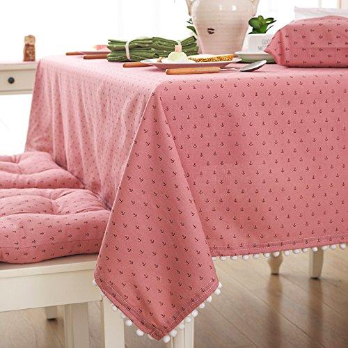 Baumwolle Stoff Tischdecke Anker Muster Tisch, 100x 140, länglich,, rot, Textil, rot, 140*200CM (Längliche Stoff-tischdecke)