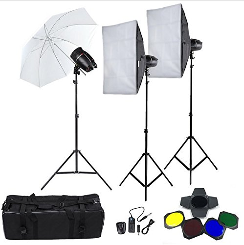 Gowe 250W Studio Flash Strobe Light Stand Softbox Soft Regenschirm Lampenschirm Scheunentor Trigger Foto Studio Lighting Kit (Stand Lampenschirm)