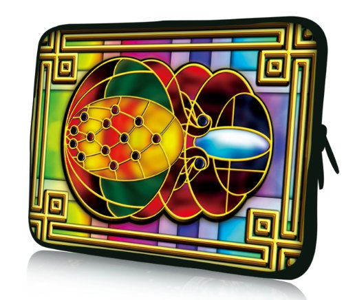 Luxburg® Design Laptoptasche Notebooktasche Sleeve für 17,3 Zoll, Motiv: Strümpfe Glasmalerei