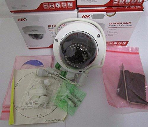 Hikvision 1080P CCTV Kamera DS-2CD2142FWD-IS 4.0MP Dome IP-Kamera Outdoor / Indoor Sicherheit IP-Kamera Eingebauter SD-Kartensteckplatz 4MP WDR Feste Dome Netzwerk Kamera (2.8mm lens) (Outdoor Nacht Kamera Sicherheit)