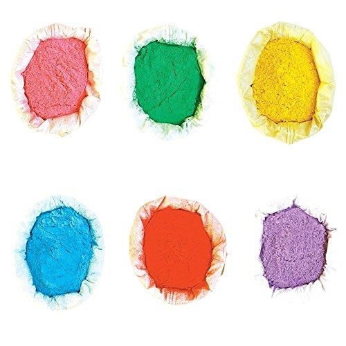 farbpulver Holi Farben Pulver Holy Farbpulver 6er Pack   6x 100g   verschiedene Farben verfügbar   Die Original Farben von Holy Festivals für Fotoshootings, Festivals, Color Runs und Holi Partys   Verschiedene Farben