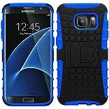 Samrick 0000441530antidérapants Schock et anti-chocs Étui de protection avec support pour Samsung Galaxy S7Edge Bleu
