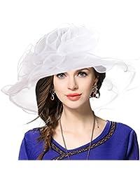 Amazon.it  Fiori Organza Bianco - Cappelli e cappellini   Accessori ... 1aacd5bddd46