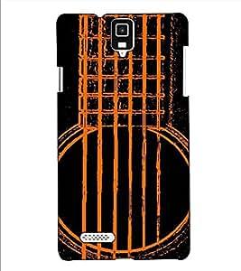 Fuson Designer Back Case Cover for Infocus M330 (The Guitar theme)