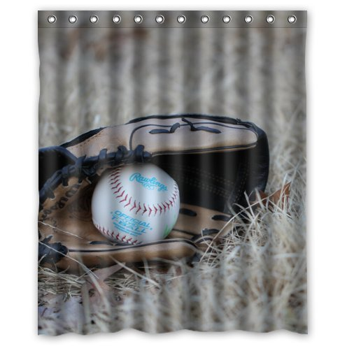 custom-it-baseball-ball-glove-sport-design-stall-mildew-resistant-waterproof-bathroom-fabric-shower-
