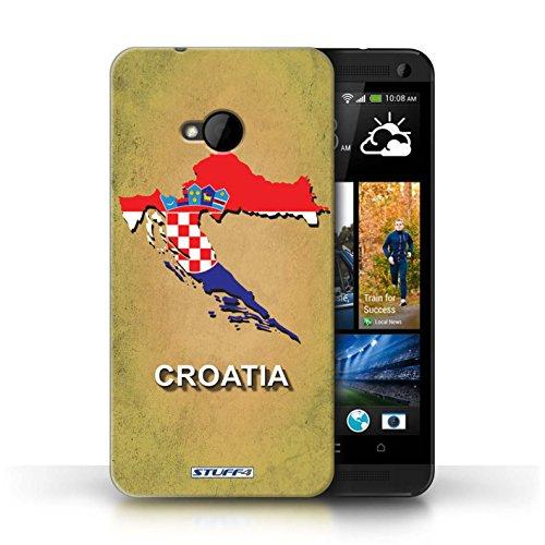 Kobalt® Imprimé Etui / Coque pour HTC One/1 M7 / Afrique du Sud/Afrique conception / Série Drapeau Pays Croatie/Croate