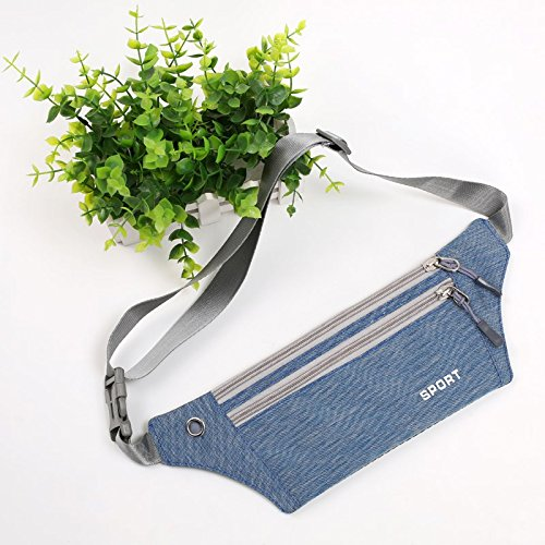 KANG@ Sport Taille Pack Multifunktions Running Männer und Frauen Outdoor Handy Tasche Anti-Diebstahl intime Stealth wasserdicht Beutel See Blau