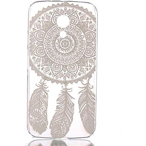 Voguecase® Para Motorola Moto G (2nda Generación), Funda Carcasa Duro Tapa Case Cover (encaje pluma) + Gratis aguja de la pantalla stylus universales