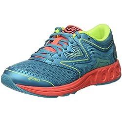 ASICS Noosa GS, Chaussures de Course pour entraînement sur Route Mixte Enfant, Turquoise (Aquarium/Aqua Splash/Flash Coral), 37 EU
