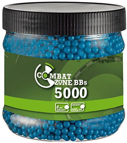 Combat Zone Billes Airsoft 0,12 g Munitions 6 MM Bleues 5000 BBs