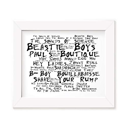 Beastie Boys Art Print - Paul`s Boutique - Unframed Lyrics Poster -
