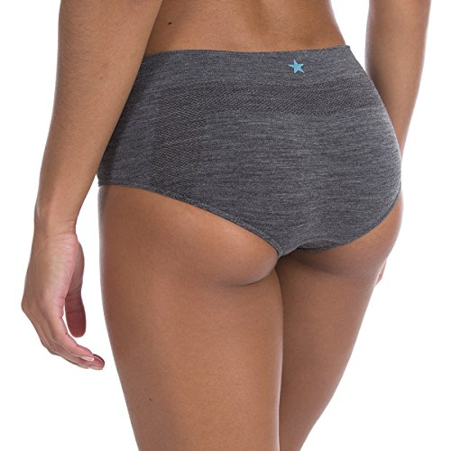 Runderwear Damen Merino Hipster reibungsfreien Unterwäsche Kontrastlook sichergestellt, damen, Merino Hipster Anti-Chafe grau