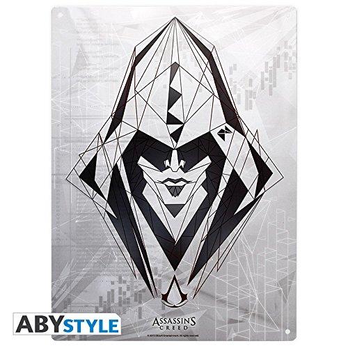 Assassins Creed – 3D Cartel de Chapa – Assassin Logo – 38 x 28 cm