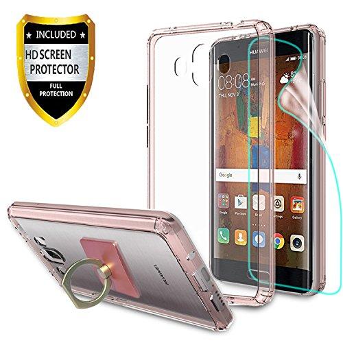 Huawei Mate 10 hülle, mit HD Displayschutz + Telefon Ständer, Athchu [Anti-Scratch] [Stoßdämpfer] [Air Hybrid] Ultra Slim Stoßstange Abdeckung Für Huawei Mate 10 (5.9