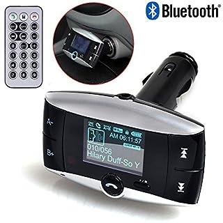 Neue Universal-LCD Display Bluetooth Wireless Auto MP3FM Transmitter SD MMC USB Modulator Radio Adapter für KFZ-Freisprecheinrichtung Telefonieren und Musik hören MP3-Player Bluetooth-fähigen Geräten
