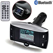 New Univeral LCD Display Bluetooth Wireless Car MP3 FM Transmitter SD MMC USB Modulator Radio Adapter Handsfree Car Kit For Calling and listening to music MP3 Players Bluetooth enabled Devices