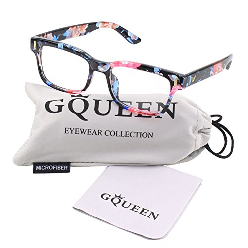 GQUEEN Moderne Modische Rechteckige Dicke Rahmen Klare Gläser Brille PE4