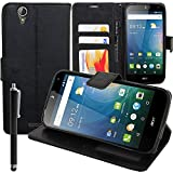 Flip Wallet Case Cover with Video Stand - PU Leather for