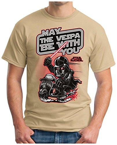 OM3 - DARTH-SCOOTER-RIDER - T-Shirt, S - 5XL Khaki