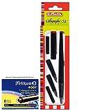 Herlitz 8623001 5-teiliges Füllhalter Calligraphy-Set mit Schreibvorlage und Pelikan TP