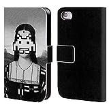 Head Case Designs Offizielle LouiJoverArt Renaissanceeindringlinge Schwarz Und Weiss Brieftasche Handyhülle aus Leder für iPhone 4 / iPhone 4S